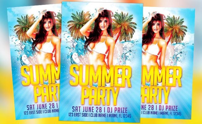 Featured Free Flyer: Summer Beach Party Template