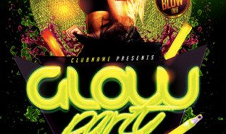 Glow Neon Party Flyer Template