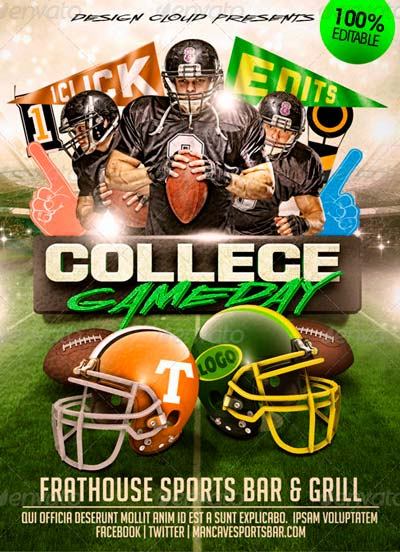 College Football Game Day Flyer Template