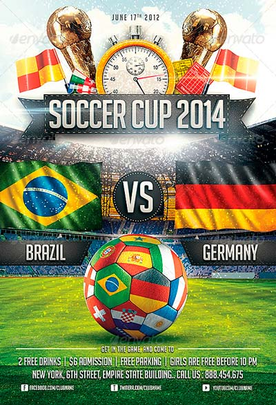 Soccer Cup 2014 party Flyer