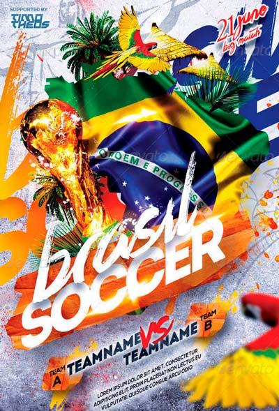 Brasil Soccer Flyer Template