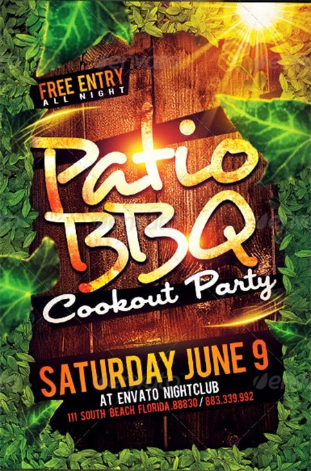 Patio BBQ Party Flyer