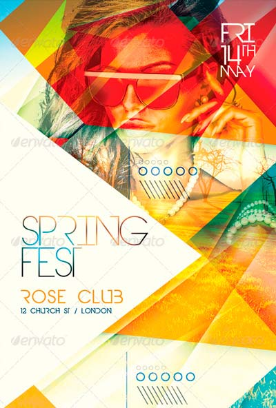 Spring Fest Flyer Template PSD