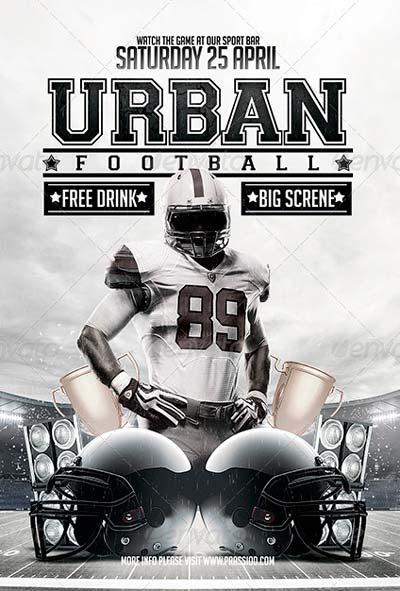 Urban Football Flyer Template
