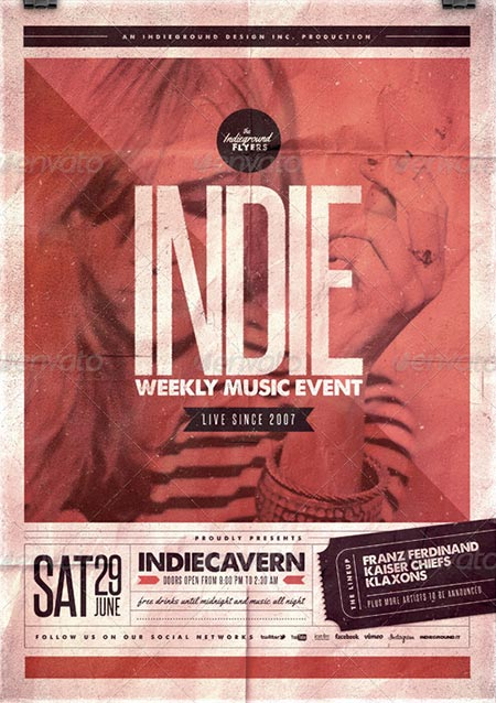 Indie Flyer/Poster Vol. 18
