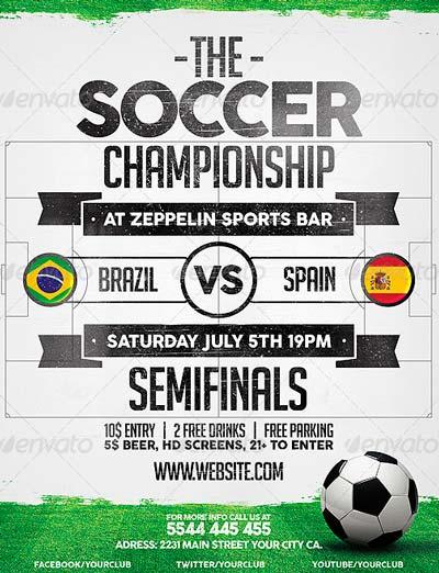 Brazil Soccer World Cup 2014 Flyer Template