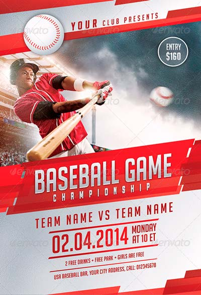 Best baseball sports flyer templates no 1 for Baseball brochure template