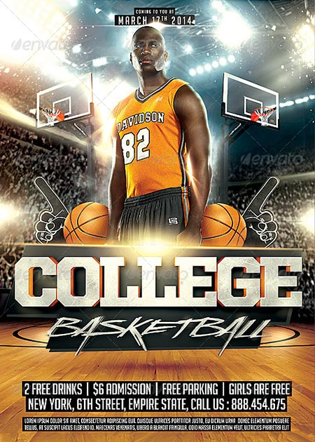 Best Basketball Event Flyer Templates No.1