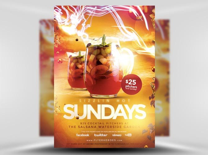 Sizzlin' Sundays Flyer Template