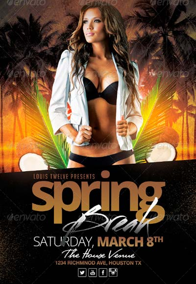 Spring Break / Summer Party | Flyer Template
