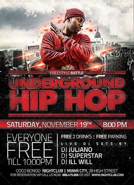Underground Hip Hop Flyer