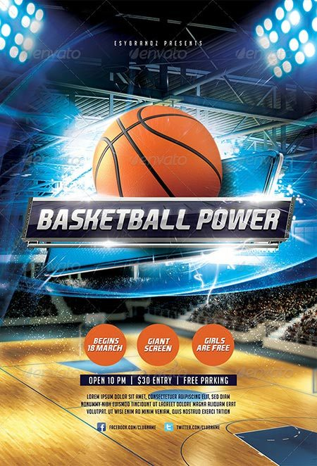 Basketball Power Flyer Template