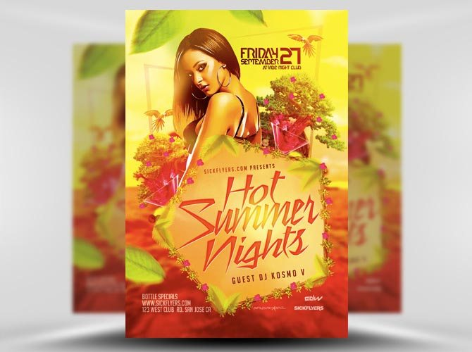 Hot Summer Nights Flyer Template