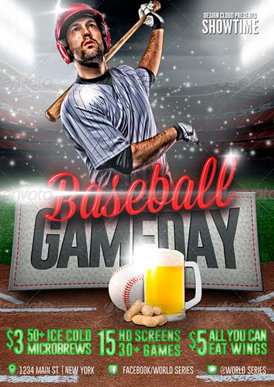 Baseball Game Day and World Series Flyer