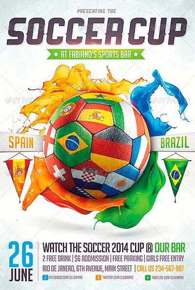 Brazil Soccer Cup 2014 Flyer