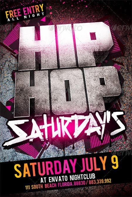 Hip Hop Saturdays Flyer