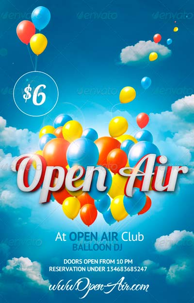 Open Air Flyer Template