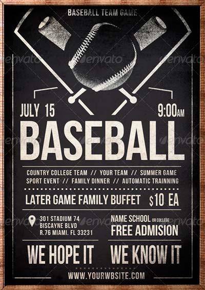 Vintage Baseball Flyer