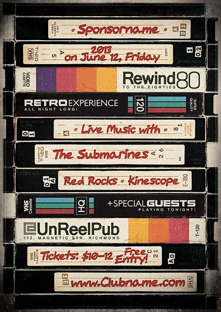 Vintage VHS - Flyer & Poster