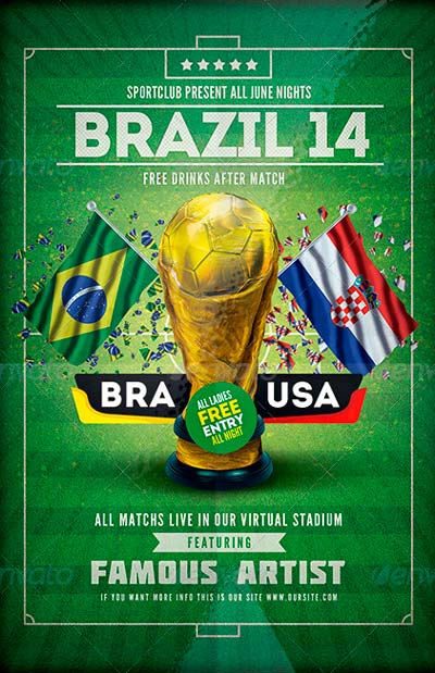 Soccer Brazil 14 | Match Flyer