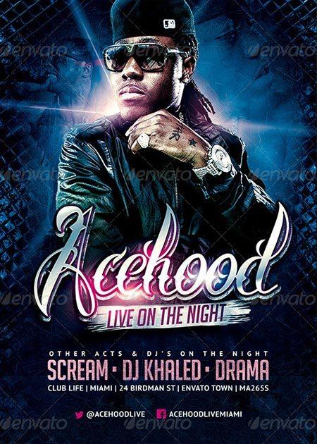 Acehood Rap Hip Hop flyer