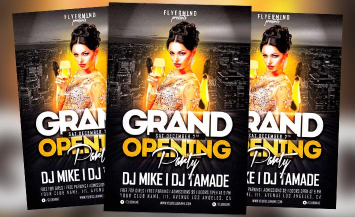 Free Flyer: Grand Opening Party Flyer Template Vol.1