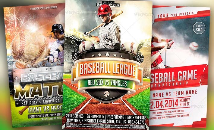 best baseball sports flyer templates no 1