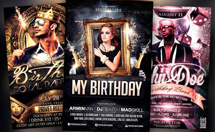 Download The Best Birthday Party Flyer Templates For Photoshop!