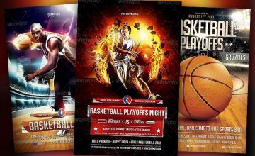 Best Basketball Event Flyer Templates No.1
