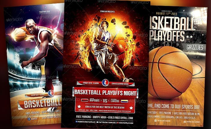 Best Basketball Event Flyer Templates No