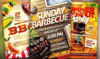 Best BBQ Event Flyer Templates No.1