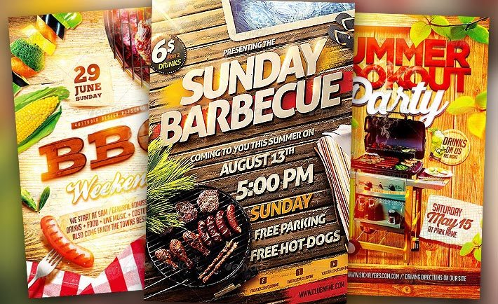 Best BBQ Event Flyer Templates No.1