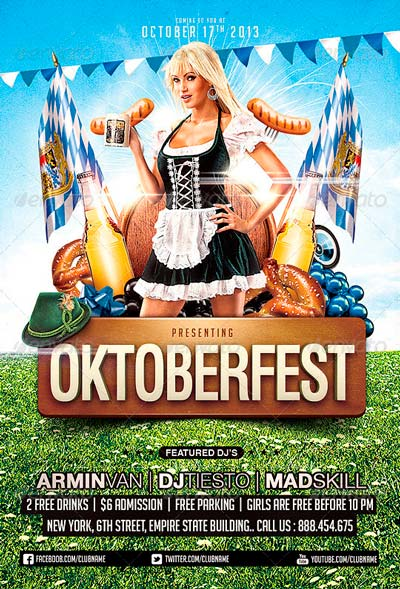 Oktoberfest Party Flyer Template
