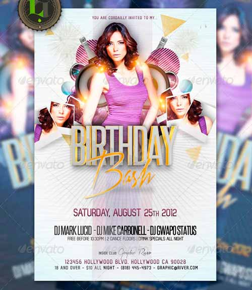 B-Day Bash Party - Flyer Template