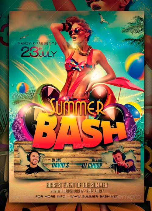 top 25 best summer party psd flyer templates
