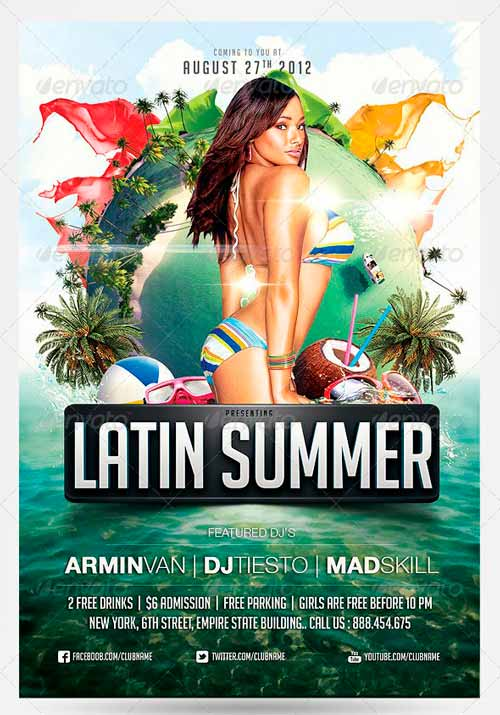 Latin Summer Party Flyer