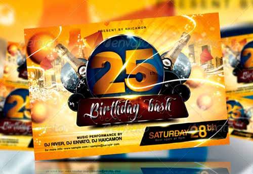 Birthday Bash Party Flyer & Invitation