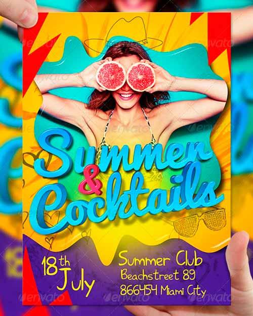 Summer & Cocktails PSD Flyer Template
