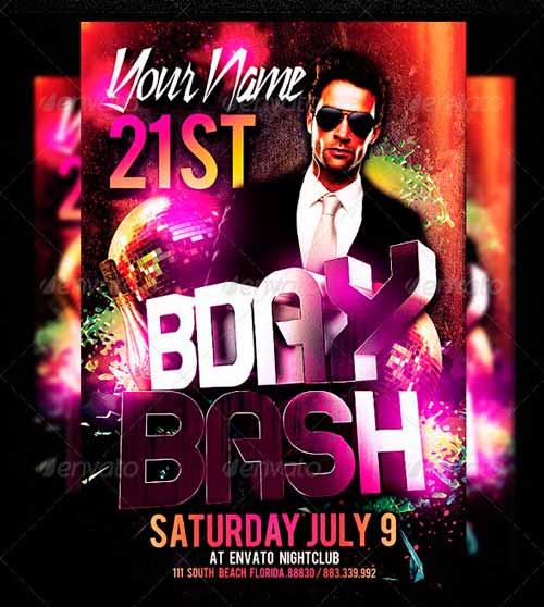 Birthday Bash Party Flyer