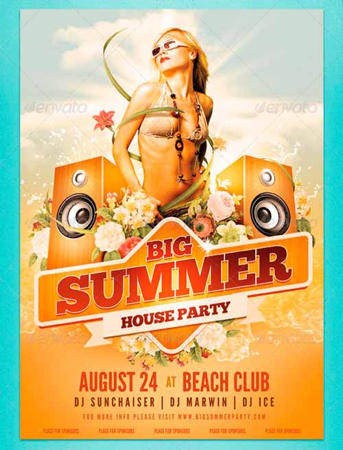 Big Summer Party Poster
