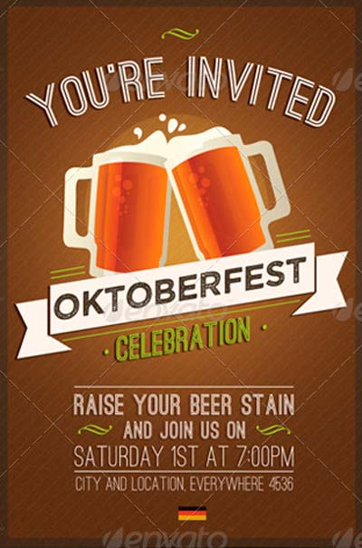 Oktoberfest · 3 Pack Invitation