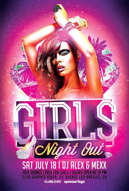 ladies night out club flyer - photo #2