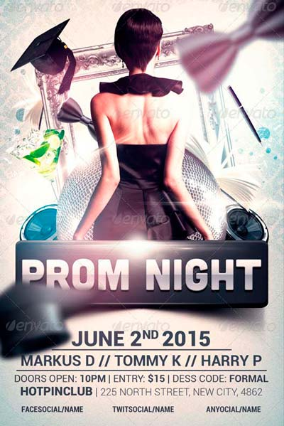 Best Graduation Prom Night Flyer Templates - Download for Photoshop