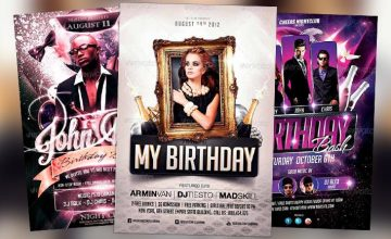 Best Birthday Flyer Templates No.2