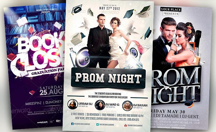 Best Graduation Prom Night Flyer Templates  Download For Photoshop