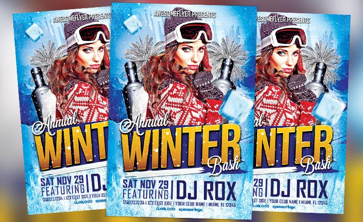 Featured Flyer: Annual Winter Bash Flyer Template