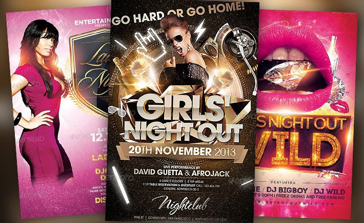 Best Girls Night Out Flyer Templates