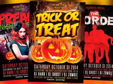 Top 10 Free and Premium Halloween Flyer Templates