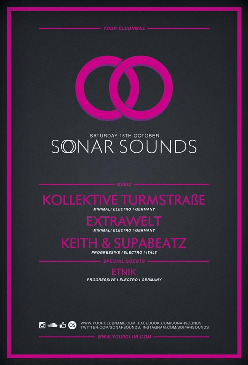 Sonar Sound Free Flyer Template Vol.2