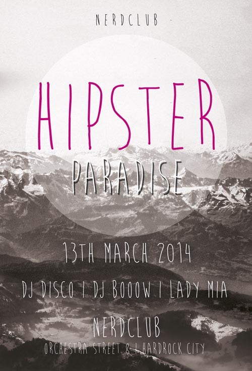 Minimal Hipster Paradise Free Flyer Template